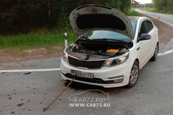 По информации ГИБДД, в необычной аварии под Тюменью пострадала только машина