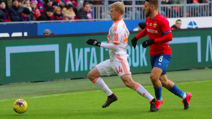 За две минуты до конца футболисты «Урала» упустили историческую победу над ЦСКА