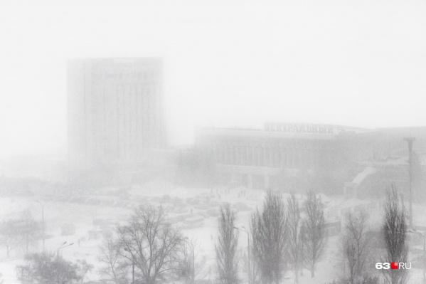 Сохранится снегопад при видимости 500–1000 метров