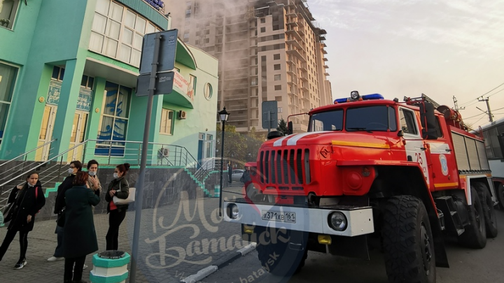 В Батайске случился пожар в бассейне