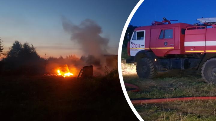 Что происходило во время пожара в Ананьино, где погиб ребенок: фото с места происшествия