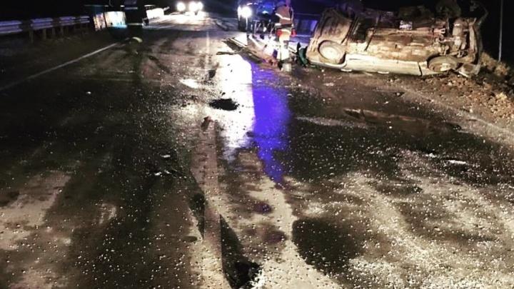 В аварии на трассе в Прикамье погиб человек