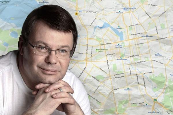 В честь Юрия Мансурова Константин Киселев предлагает назвать одну из новых улиц Екатеринбурга или безымянный сквер