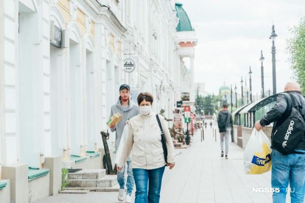 Пока масочный режим в Омской области установлен до 1 сентября