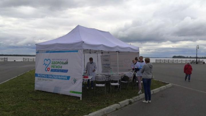 В выходные в Северодвинске будут работать палатки для проверки здоровья