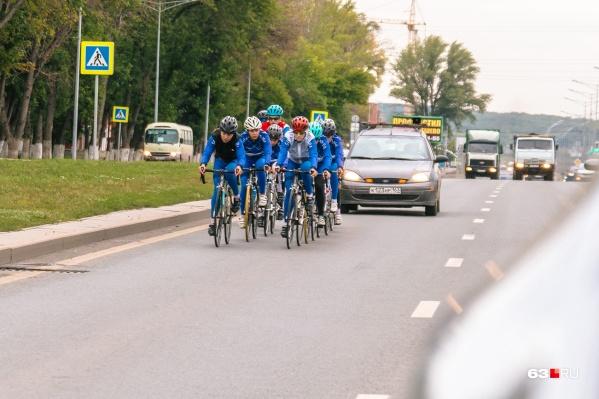 Движение ограничат для безопасности велосипедистов