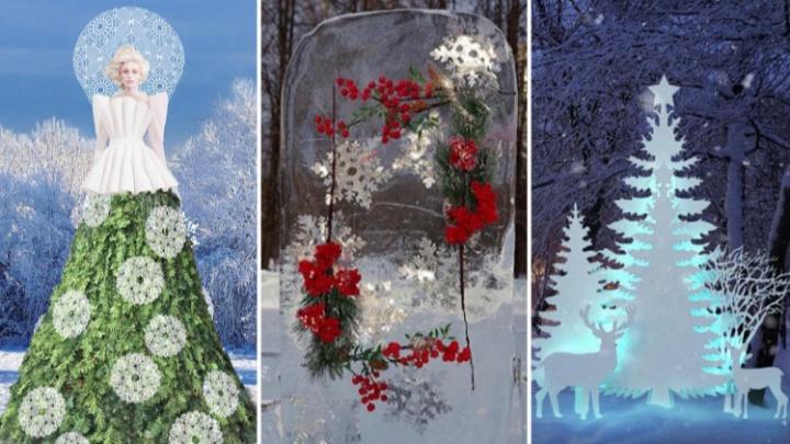 «Ледяные букеты» и «Зимние красавицы»: мэрия Омска выделила 4,6 миллиона на новогодние композиции