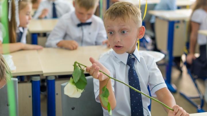 Цветы, улыбки, санитайзер: фоторепортаж с Дня знаний в Ростове