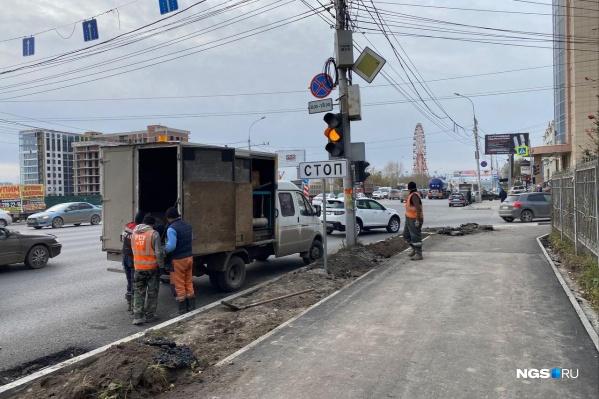 По программе БКАД отремонтировали прилежащие тротуары, светофоры и развязки