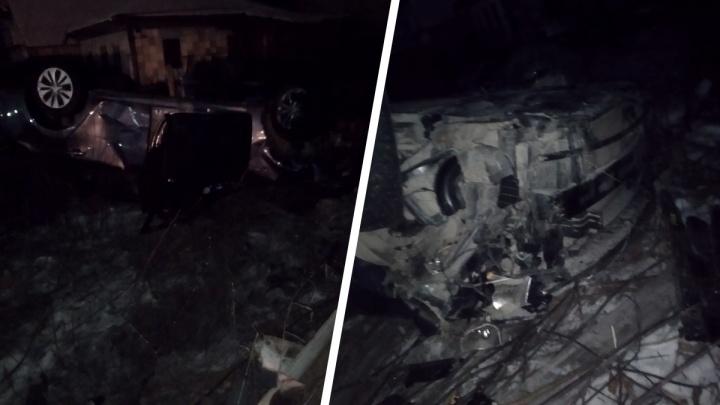 Нетрезвый водитель врезался в забор частного дома в Ленинском районе
