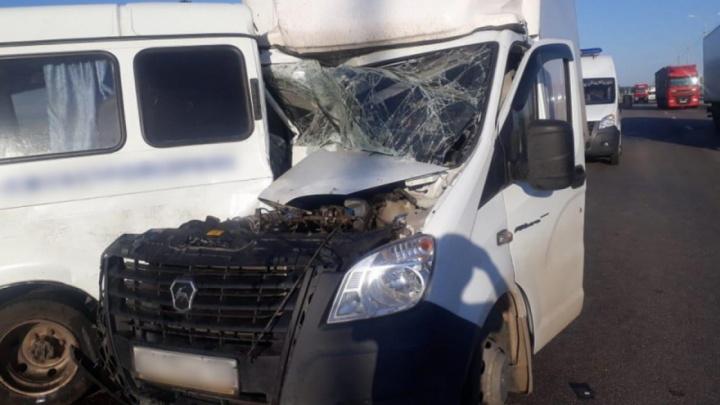 Столкнулись две «Газели»: на федеральной трассе разбились трое волгоградцев