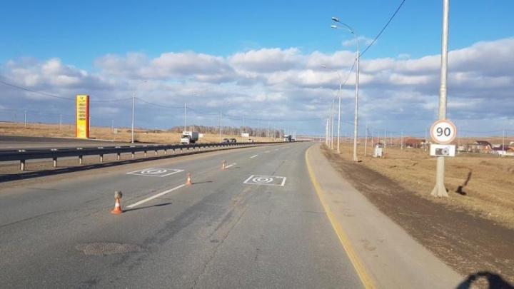 По дороге в аэропорт установили первую камеру по фиксации средней скорости