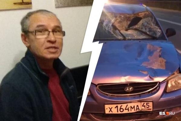 56-летнего Рашида сбил Hyundai Accent, когда мужчина переходил дорогу на улице Селькоровской