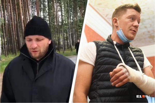 Сергей Колесов (слева) — один из тех, кто отбирал камеру у Сергея Ерженкова. В борьбе режиссеру сломали руку