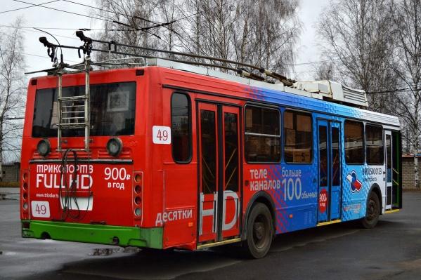 Часть троллейбусов в рыбинском парке электротранспорта осталась незадействованной