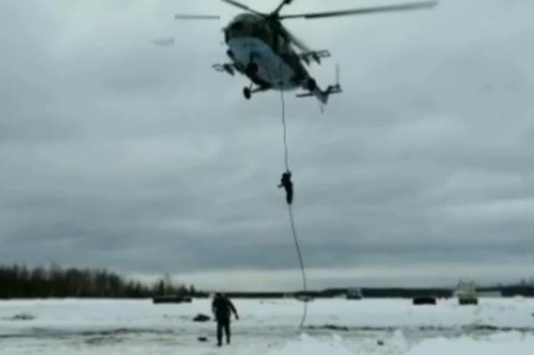 Тренировка проходила в феврале на полигоне под Архангельском
