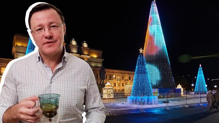 Азаров обратился к населению Самарской области по поводу празднования Нового года