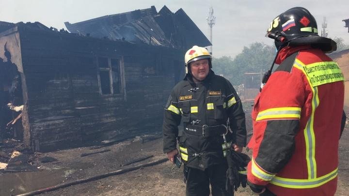 Глава самарского ГУ МЧС назвал причину пожара в цыганском поселке у «Амбара»