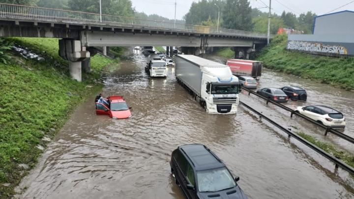 Город в воде: карта затопленных улиц Екатеринбурга