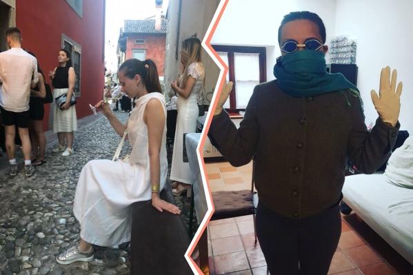 До карантина в Италии можно было гулять в обычной одежде. Сейчас — только в средствах индивидуальной защиты