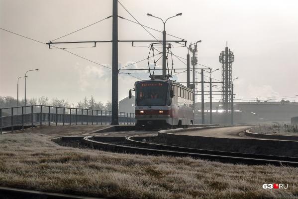 Самая новая трамвайная ветка проходит до «Самара Арены»
