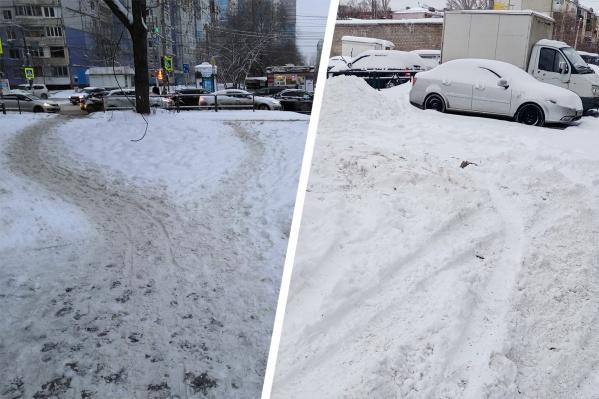 Месиво снега и грязи можно было наблюдать практически на всех улицах Самары