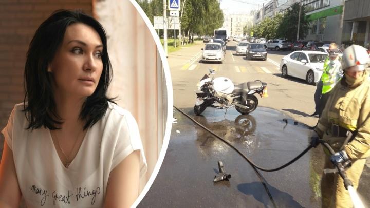 «Хлестала кровь, я пыталась шутить»: многодетная мама спасла мотоциклиста, попавшего в ДТП