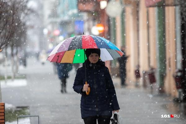 Погода пока мало похожа на весеннюю — в городе настоящая «ростовская» зима