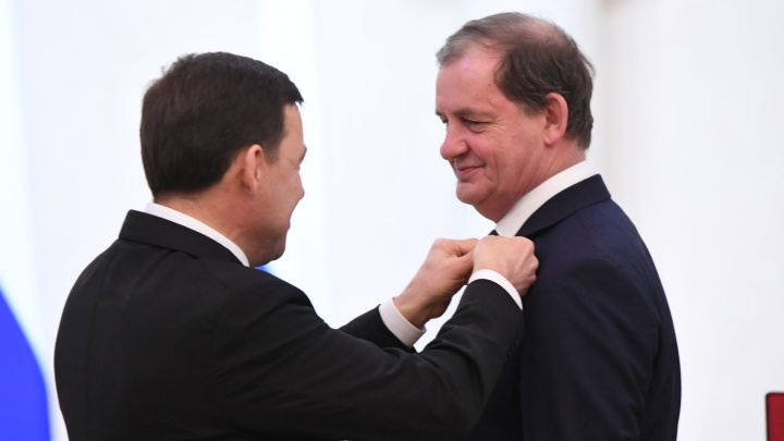 Куйвашев наградил бизнесмена Симановского орденом «За заслуги перед Отечеством»