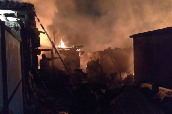 Из огня успела спастись мать с двумя детьми