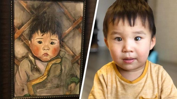 Екатеринбурженка узнала своего двухлетнего сына на портрете, нарисованном семь лет назад