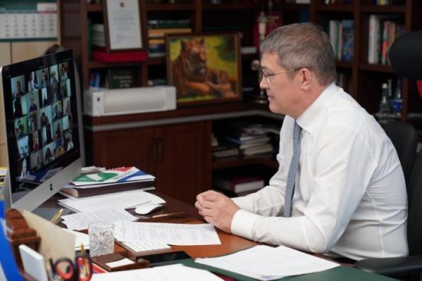 Указо повышенной готовности Хабиров подписал в марте этого года из-за коронавируса