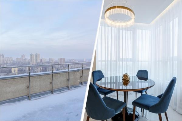 Со второго этажа квартиры можно выйти на террасу