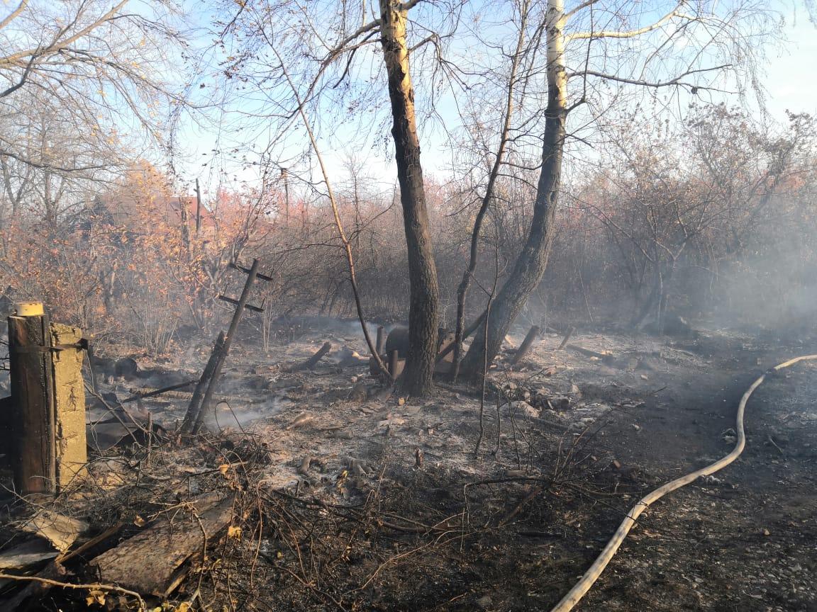 Площадь пожара составила 600 кв. метров