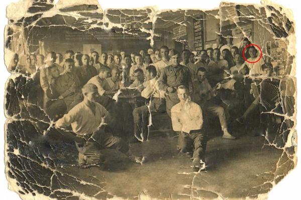 Константин Попов в военном госпитале в Магнитогорске
