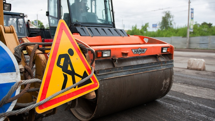 В Уфе на трассе в аэропорт на ремонт закрыли участок дороги