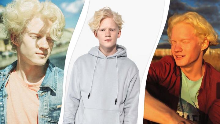 Альбинос из Северодвинска рассказал, как попал в рекламу популярной одежды