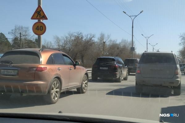 Скорость движения на участке ограничили до 40 км/ч