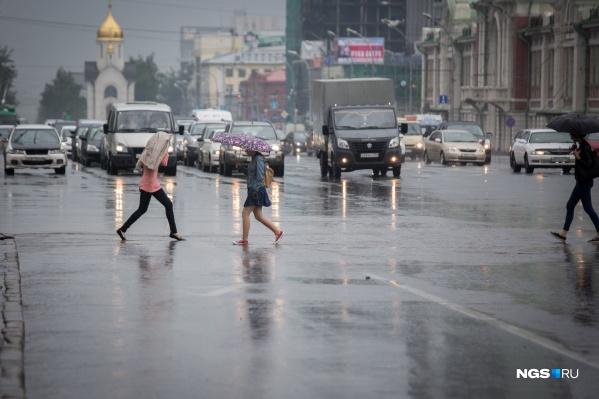 Синоптики ожидают, что в Новосибирске на выходных будет дождливо