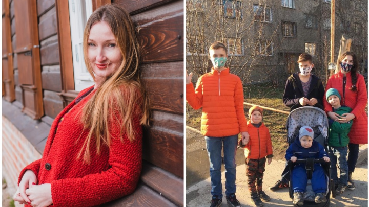 На всех хватит: мать-одиночка из Новосибирска усыновила 5 детей — двое из них уже подростки