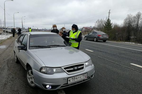 За 1,5 суток на границе Ярославской области для проверки остановили три тысячи машин