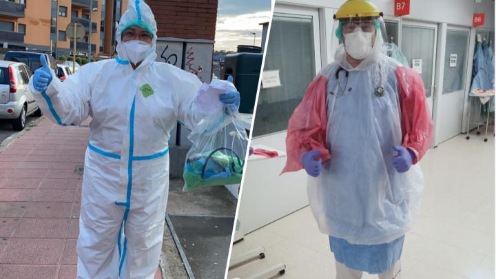 Екатеринбурженка, работающая врачом в Испании: «Люди шили нам костюмы из мусорных мешков»