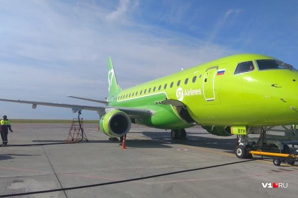 Вместо Airbus первый рейс был выполнен на Embraer