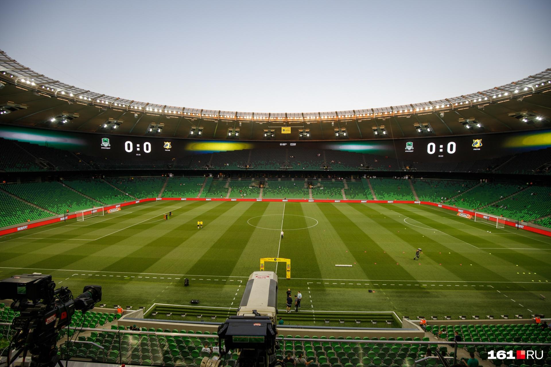 Вот так стадион выглядит внутри