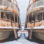 Кладбище речных кораблей: фоторепортаж из Затона на Водниках, где снимали «Географ глобус пропил»