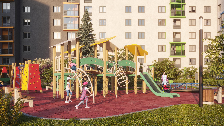 Современные игровые комплексы способствуют развитию воображения и навыков общения у детей