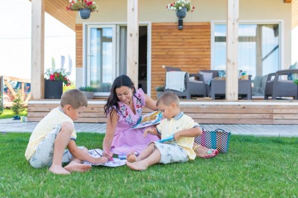 В поселке сделано все для комфортного семейного отдыха