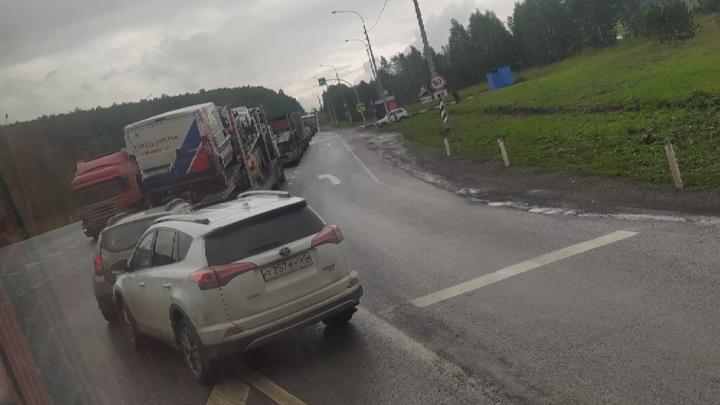 Трассу М-5 в Челябинской области сковала многокилометровая пробка