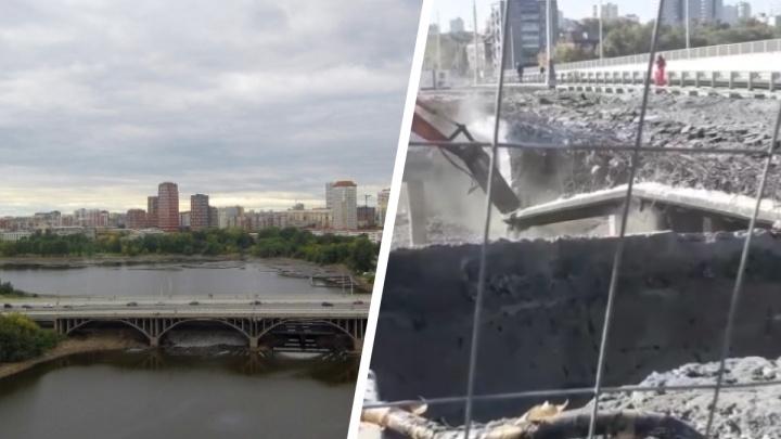 В Екатеринбурге начали разбирать Макаровский мост. Публикуем видео