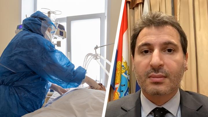 Армен Бенян озвучил, сколько ковид-пациентов нуждаются в реанимации